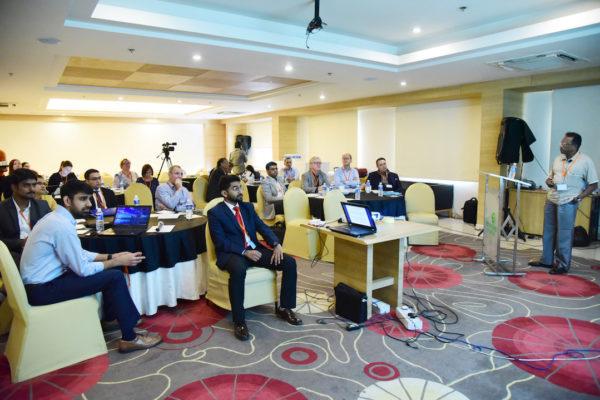 Dr Shan from AHPI addressing the delegates at InnoHEALTH 2017 Bangalore leg