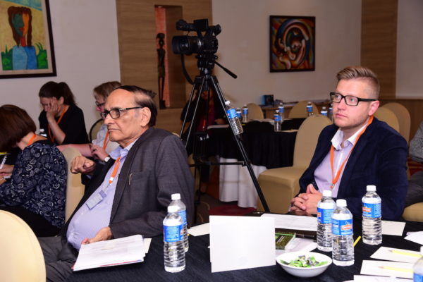 Priit Aigro and Dr V K Singh listening to the program at InnoHEALTH 2017 Bangalore leg