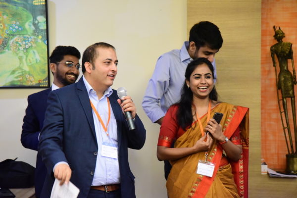 Sachin and Sohini in the closing ceremony of the program at InnoHEALTH 2017 Bangalore leg
