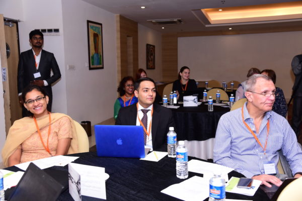 Swetha Suresh from Documental Ankit Bahl from Estonian Embassy and Jaanus Pikani from Documental at InnoHEALTH 2017 Bangalore leg