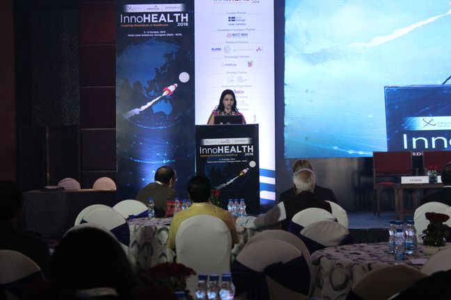 1. Dr Swati Maheshwari, host of InnoHEALTH 2018 starts the conference