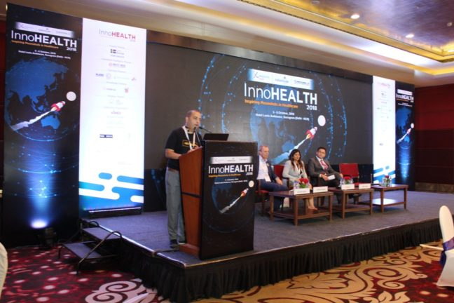 1. Sachin Gaur gives the valedictory at InnoHEALTH 2018