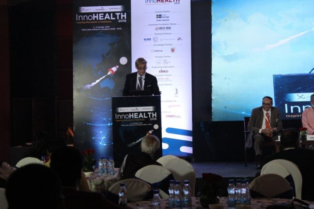 12. H.E Klas Molin, Guest of honor at InnoHEALTH 2018 shares his views in the inaugural session