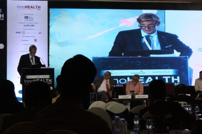 14. H.E Klas Molin, Guest of honor at InnoHEALTH 2018 shares his views in the inaugural session