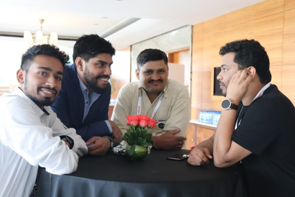 14. (L-R)Chetan Bansiwal, Dhruv Singh, Mayank Kumar Singh and Clarion Smith at InnoHEALTH 2018