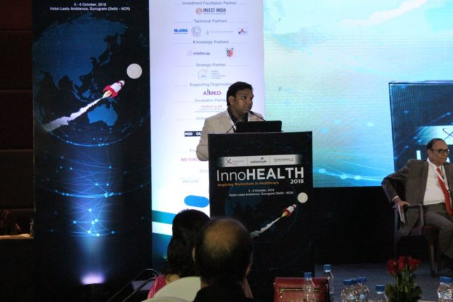 15. Srijan Pal from Dr APJ Abdul Kalam's foundation shares his views at InnoHEALTH 2018 inaugural session