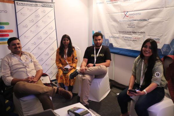 17. (L-R)Mayank Kumar Singh, Arati Chaudhary, Clarion Smith and Neha Prakash at InnoHEALTH 2018