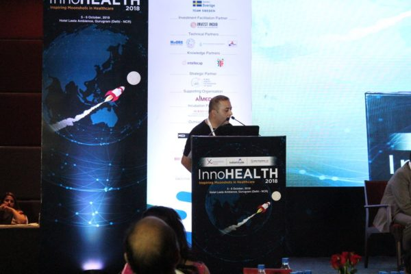 17. Sachin Gaur, delivers vote of thanks at the inaugural session of InnoHEALTH 2018