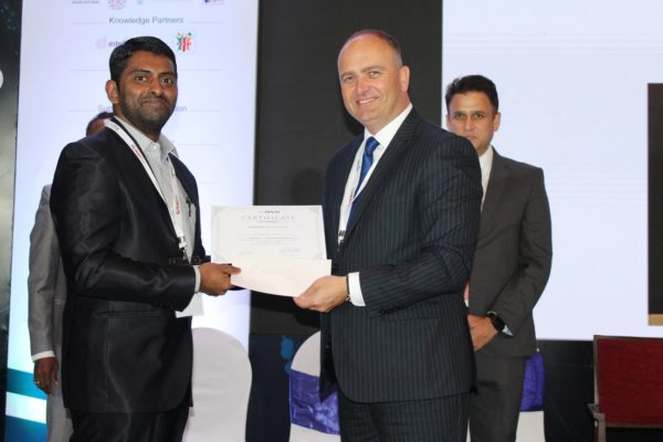 18. Dhananjaya KVN receives the third place in the young innovators award at InnoHEALTH 2018