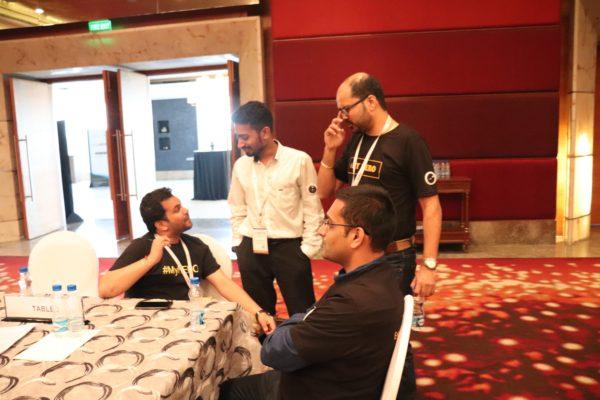 20. (L-R)Clarion Smith, Chetan Bansiwal, Alok Chaudhary and Saurabh Gupta at InnoHEALTH 2018