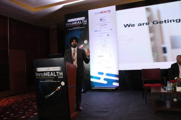 3. Amarjeet Singh Tak speaks in session of Innovations for hospitals at InnoHEALTH 2018