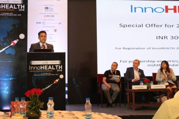 3. Amit Saroj gives the closing remarks at InnoHEALTH 2018