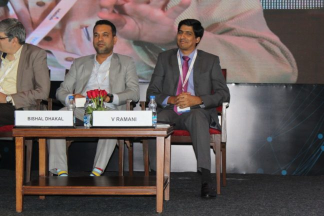 3. Bishal Dhakal and Viadyanathan Ramani at session on Achieving universal health coverage, insurance led innovations and AYUSH at InnoHEALTH 2018
