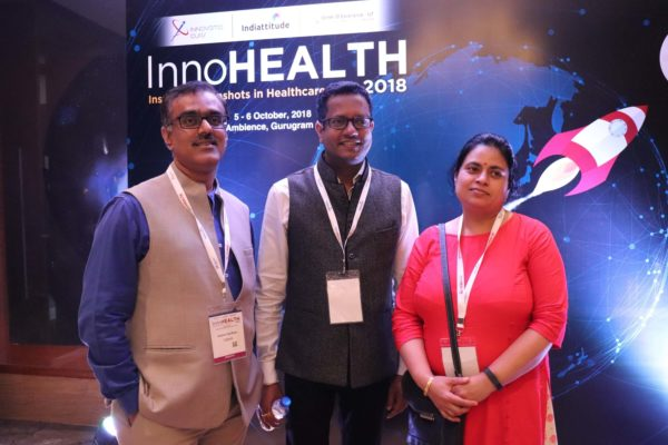 3. Participants pose at the moonshot corner of InnoHEALTH 2018