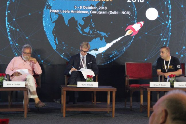 6. Dr Anil Kumar Gupta, H.E Klas Molin and Sachin Gaur at the InnoHEALTH 2018 inaugural session