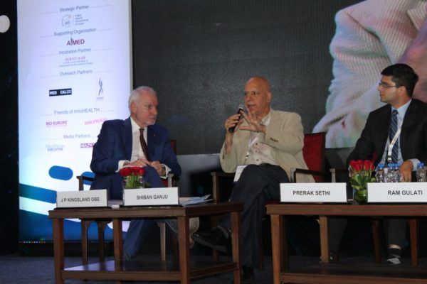 6. Panel discussion in progess at session on Achieving universal health coverage, insurance led innovations and AYUSH at InnoHEALTH 2018