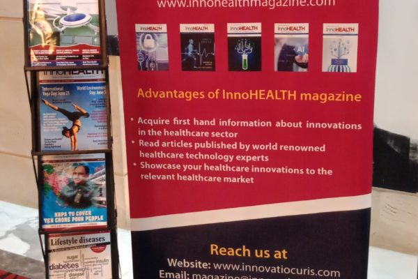7. InnoHEALTH magazine banner in master class on innovations in healthcare by Paul Lillrank at InnoHEALTH 2018