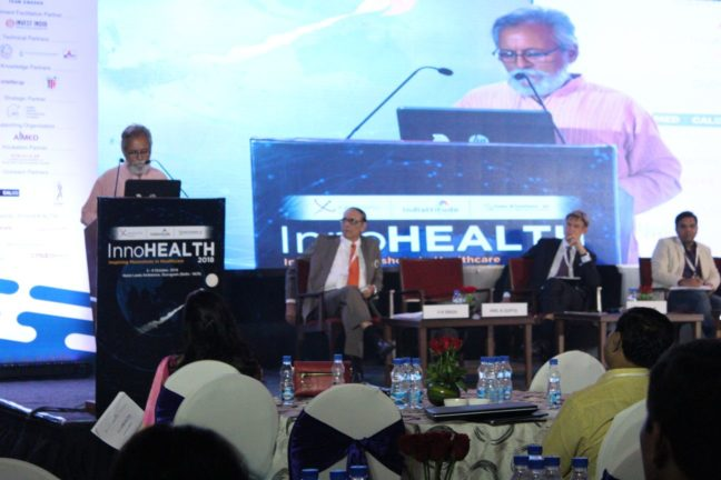 9. Dr Anil Kumar Gupta from the Honey Bee network gives the keynote address at InnoHEALTH 2018 inaugural session