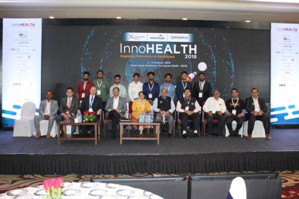 Young innovators award's jury and participants at InnoHEALTH 2018