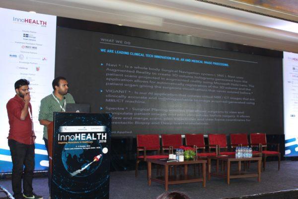 Abhishek-Venkataram-and-Sanidhya-Rasiwasia-present-their-innovation-on-navi-surgical-navigation-ssytem-in-the-Young-innovators-award-session-at-InnoHEALTH-2018