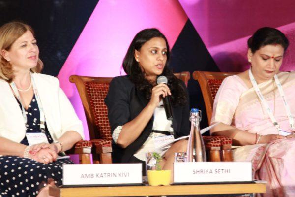 Amb Katrin Kivi, Shriya Sethi & Upasana Arora at Session 4 InnoHEALTH 2019