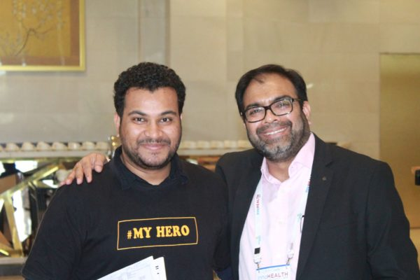 Clarion Smith and Dr. Amit Raj at InnoHEALTH 2019