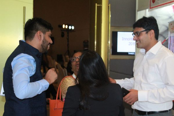 Dhruv Singh, Anandi Ramachandan and Dr. vidur Mahajan at InnoHEALTH 2019