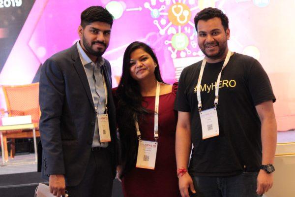Dhruv Singh, Parthvee Jain, Clarion Smith at InnoHEALTH 2019