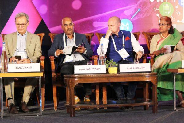 Dr. Jaanus Pikani, Yashwant Deval, Dr. Jukka Holappa & Sharda Balaji, Session 7 at InnoHEALTH 2019