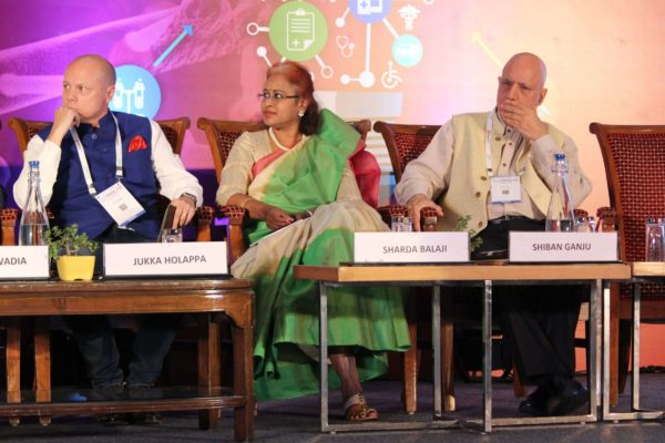 Dr. Jukka Holappa, Sharda Balaji & Dr. Shiban Ganju, Session 7 at InnoHEALTH 2019