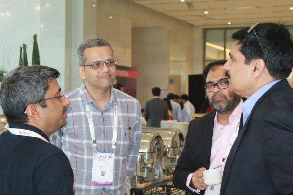 Dr. Sanjay Sharma, Sharad Kumar, Dr. Amit Raj and Rajesh R Singh at InnoHEALTH 2019