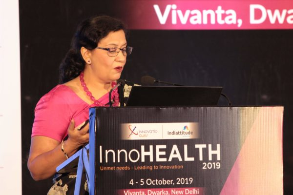 Dr. Sonal Saxena, at Session 3 InnoHEALTH 2019