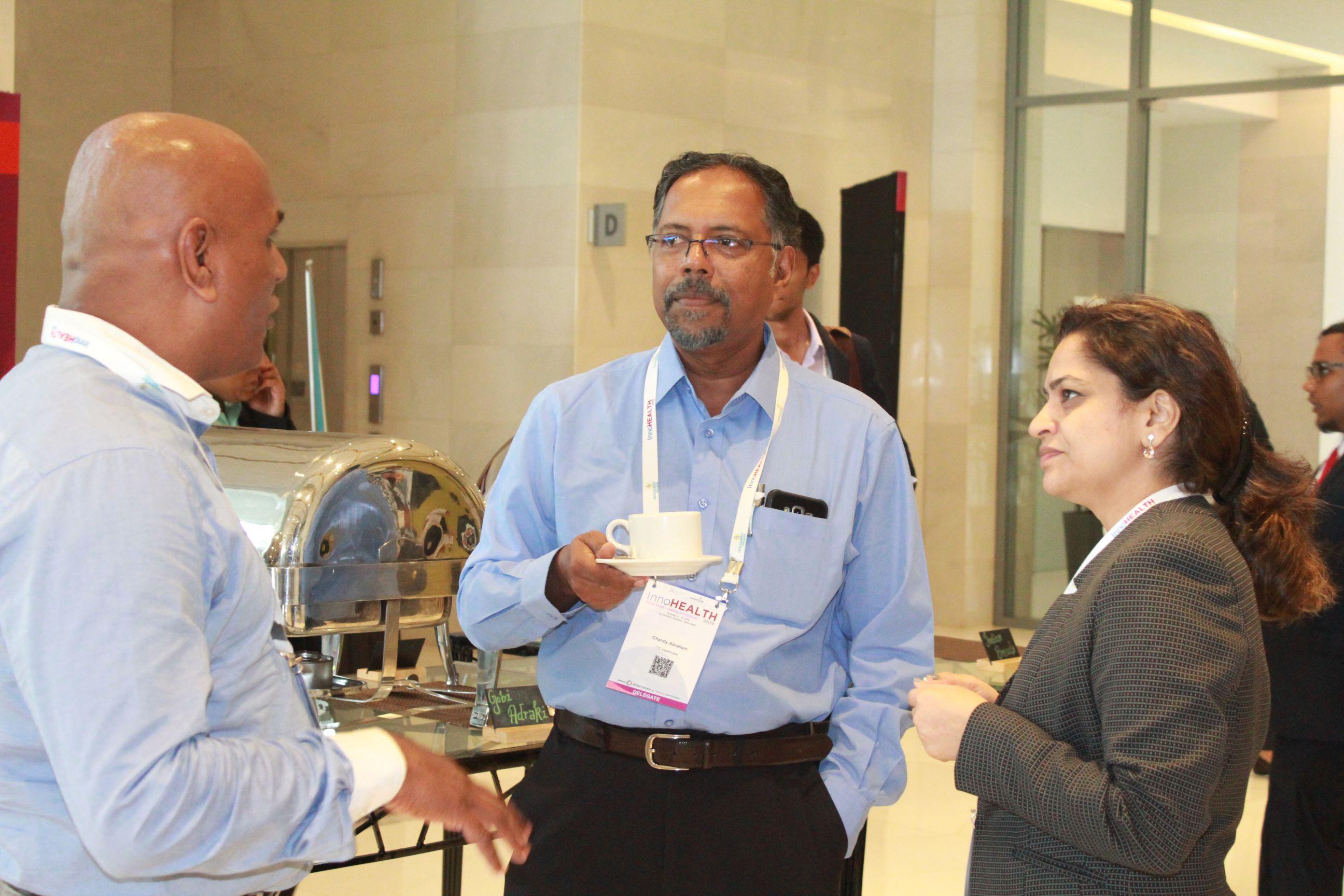 Dr. Tapan Shah, Chandy Abraham and Dr. Shahikala at InnoHEALTH 2019