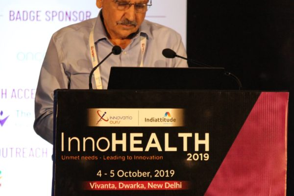 Karnal Singh at Inaugural session InnoHEALTH2019