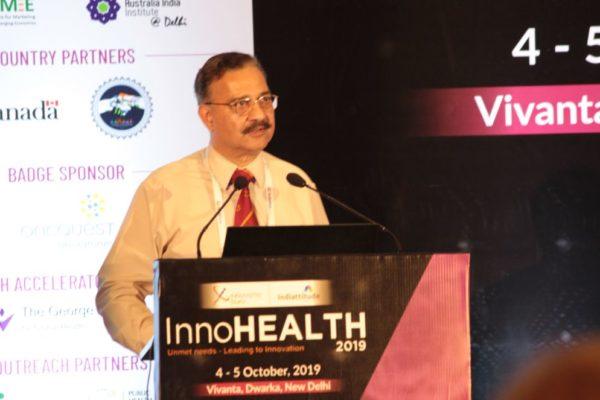 Lt General (Dr) Rajesh Pant at Inaugural session InnoHEALTH2019
