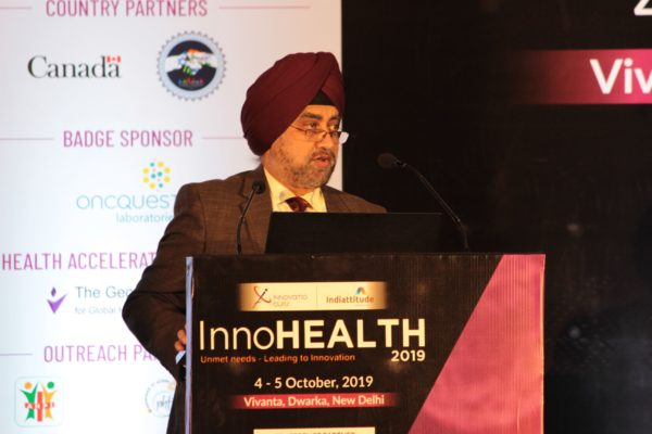 Maj Gen Jagtar Singh, Panelist at Session 2 InnoHEALTH 2019