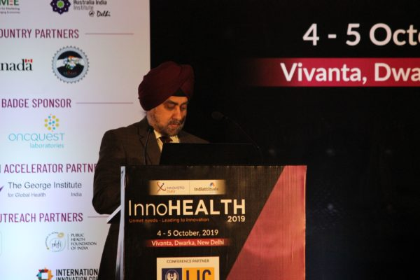 Maj Gen Jagtar Singh at Session 2 InnoHEALTH 2019