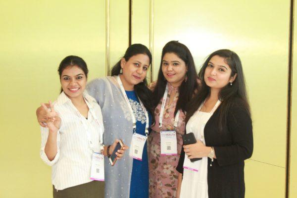 Mansi Dabola, Akansha John, Monika Bisht and Garima Chaudhary from Jamia Hamdard students at InnoHEALTH 2019