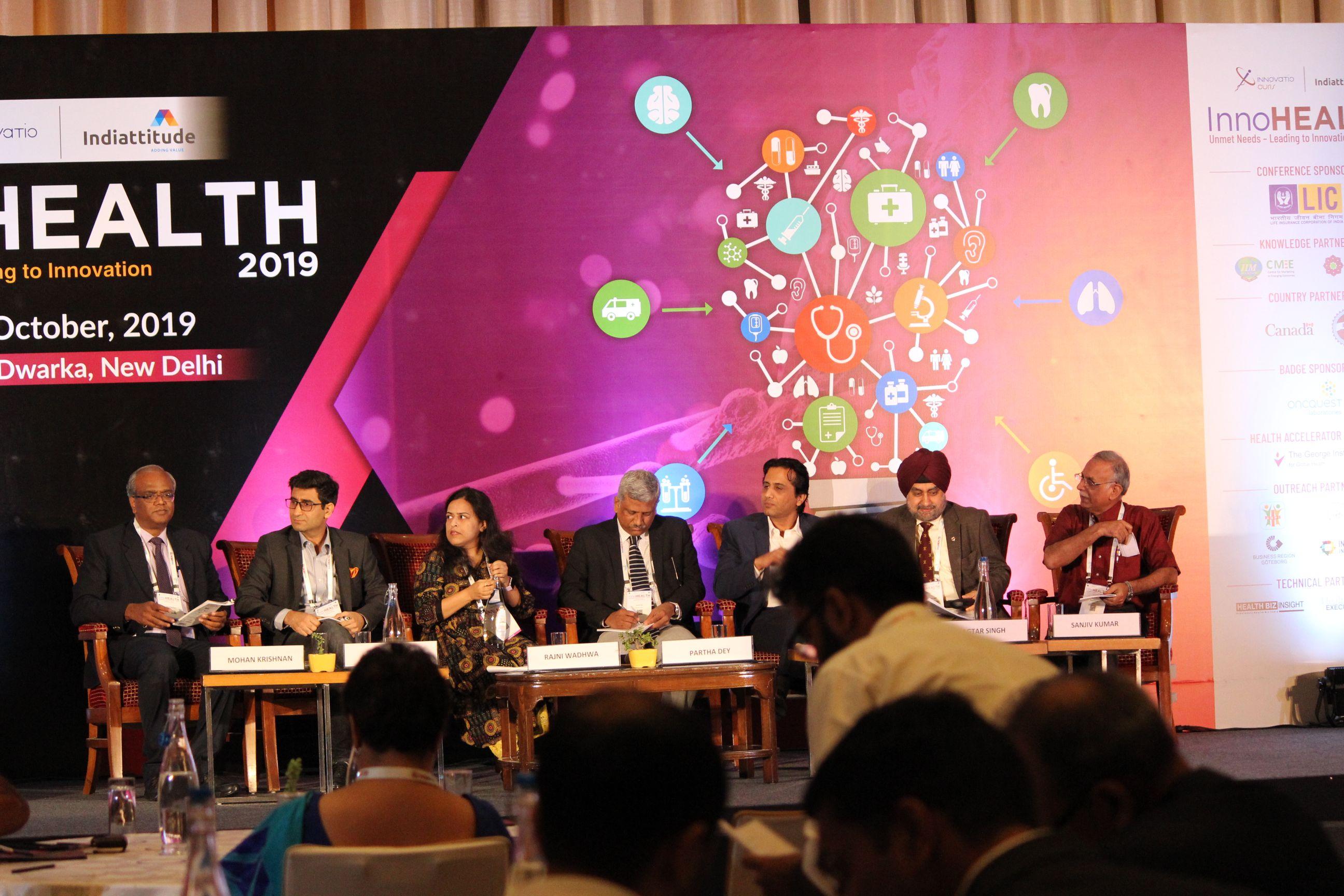 Panelists at Session 2InnoHEALTH 2019
