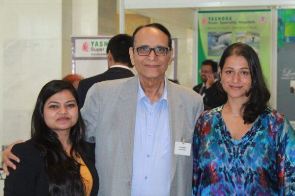 Parthvee Jain, Dr. VK Singh and Tanya Spisbah at InnoHEALTH 2019
