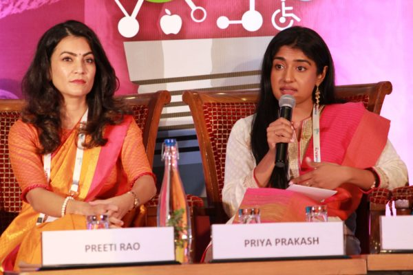 Preeti Rao & Priya Prakash at Session 4 InnoHEALTH 2019