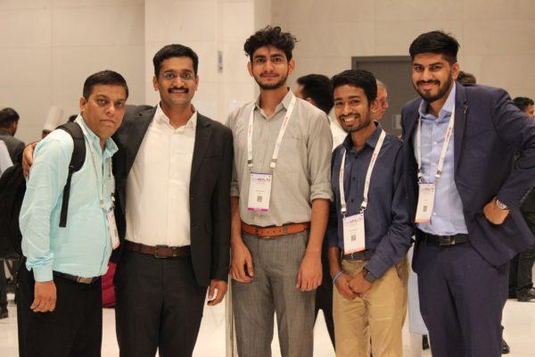 Sanjay Gaur, Prof. Saurabh Gupta, Ashish Sharma, Chetan Bansiwal and Dhruv Singh enjoying the moment at InnoHEALTH 2019