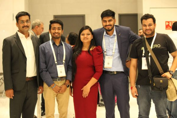 Saurabh Gupta, Chetan Bansiwal, Parthvee Jain, Dhruv Singh and Clarion Smith enjoying the moment at InnoHEALTH 2019