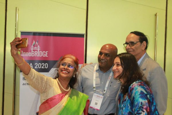 Sharda Balaji, Dr. Tapan Shah, Dr. VK Singh and Tanya Spisbah enjoying the moment at InnoHEALTH 2019